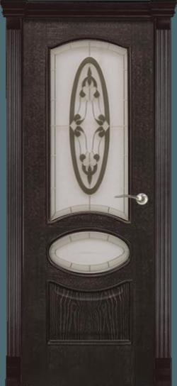 Дверь Алина витраж Бетта (Ясень тон 7)