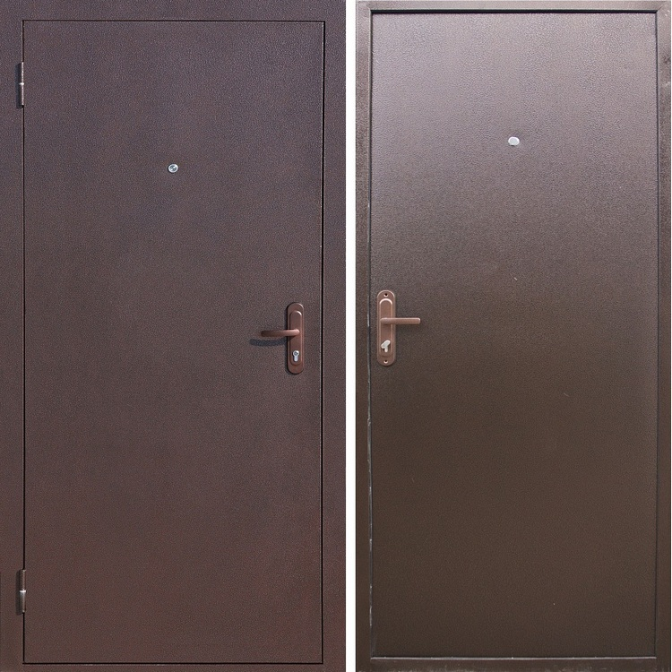 железные двери металлические эконом класс